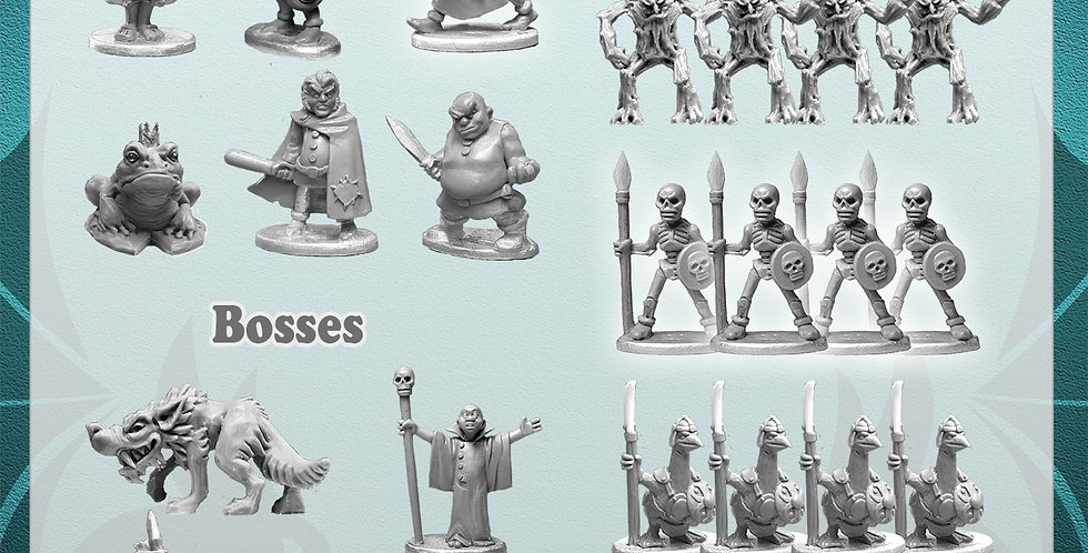 Toon Realms White Metal Miniatures Expansion Set + Module