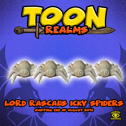 Lord Rascal's Icky Spiders (MSRP $7.5)