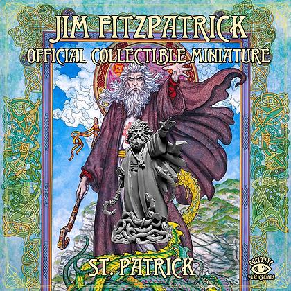 Jim FitzPatrick Official Collectible Miniature - ST. PATRICK (SMRP $15)