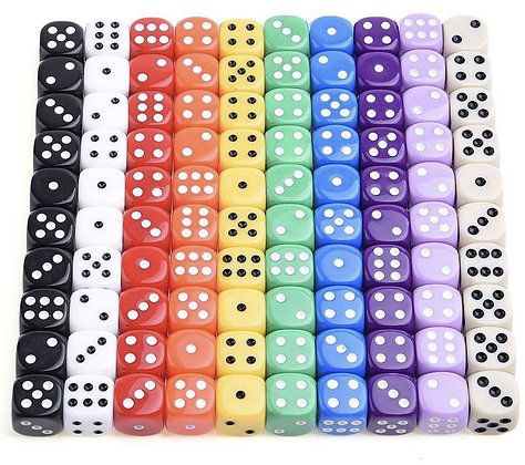 Set of 10 Six Sided Dice (MSRP $5)