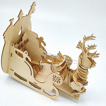 Holiday Sleigh 3D Wood Puzzle (MSRP $19)