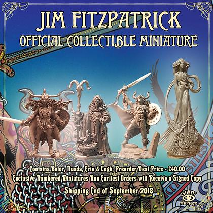 Jim FitzPatrick Official Collectible Miniatures - Nuada, Ériu, Balor (SMRP $48)