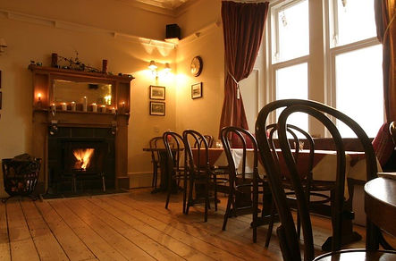 Roaring fire in the gastro pub at the colintraive hotel