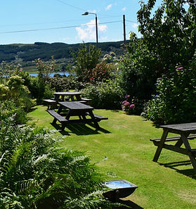 Beer garden and family play area at the colintraive hotel