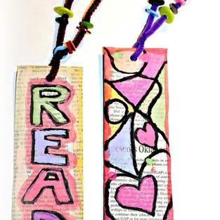 Painted Newspaper Bookmark
