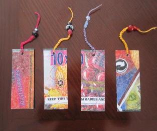 Fused Plastic Bag Bookmarks