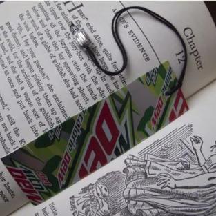 Soda Can Bookmark