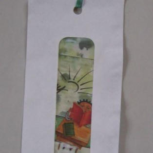 Security Envelope Bookmark (another idea for the window - hole punches)