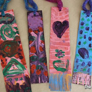 Painted Cereal Box Bookmarks