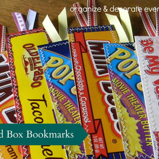 Food Box Bookmarks (sewing not required!)