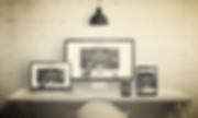 Creative deks scene for web design agenc