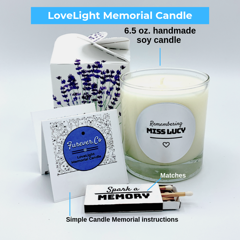 Memorial Candle for pet loss