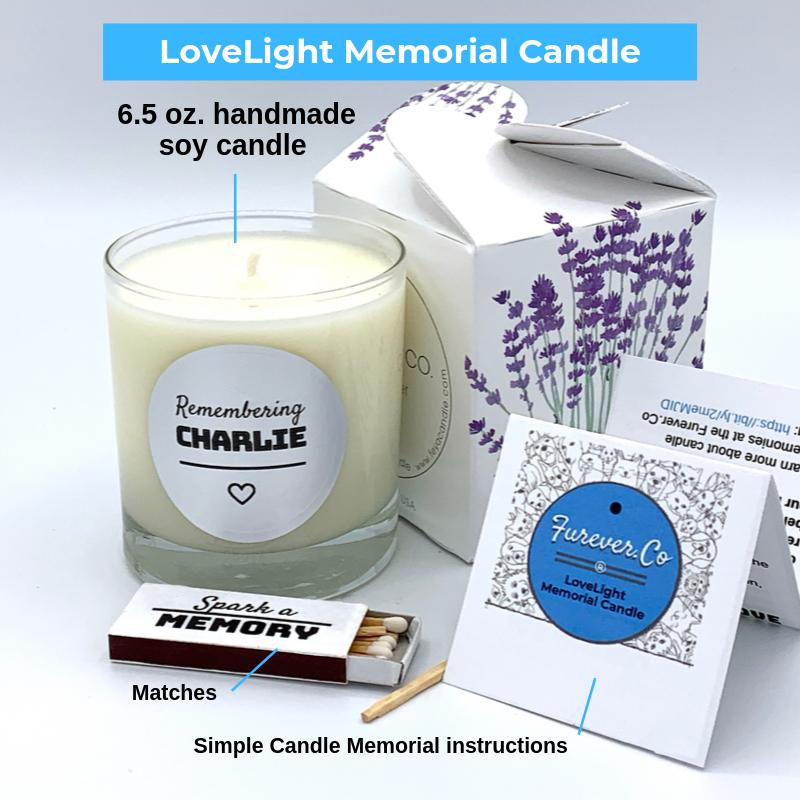Pet loss memorial candle