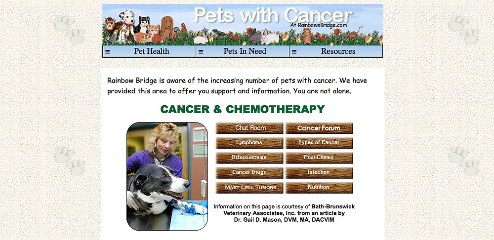Pets with Cancer Chat Room