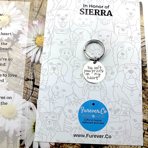 Affordable pet loss card and gift