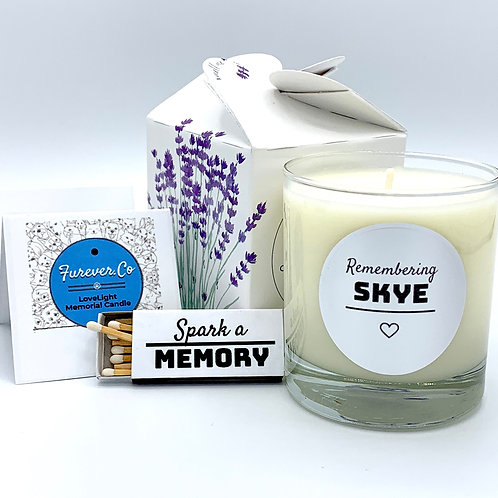 Lovelight Memorial sympathy Candle for Pet Loss Grief