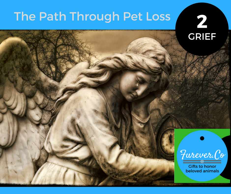 Weeping pet loss funeral statue