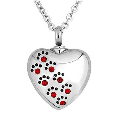 Cremains jewelry heart