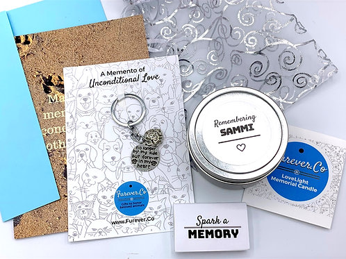 Candle and Memento Pet Sympathy Gift