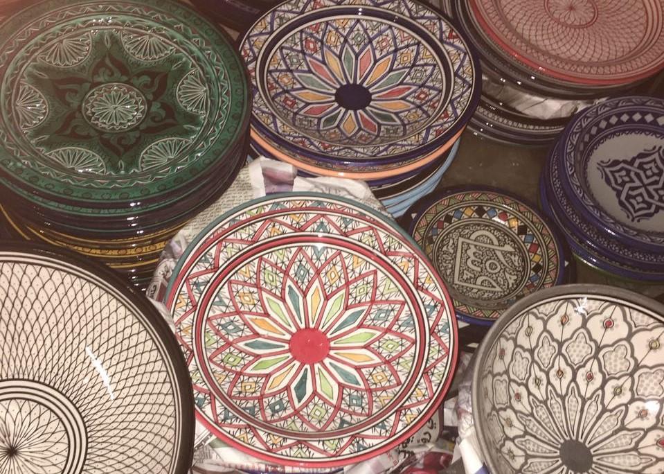 Assiettes en poterie