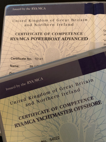 MCA /RYA Certificate of Competence