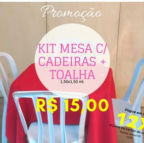 kit Mesa e Cadeira + Toalha