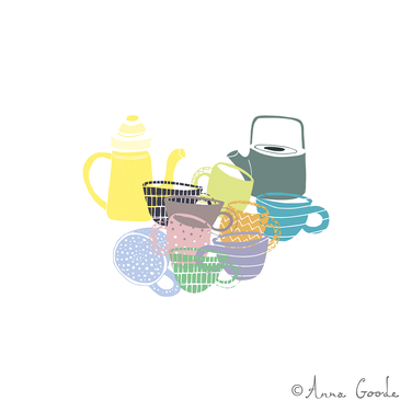A Clutter of Teacups & Teapots