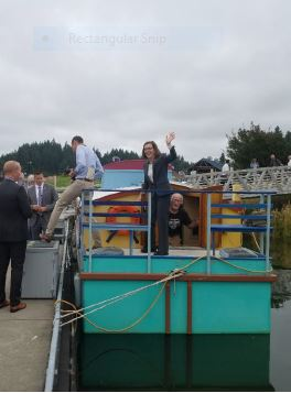 Aboard Rick Johnson's canal boat the Gypsy Rose