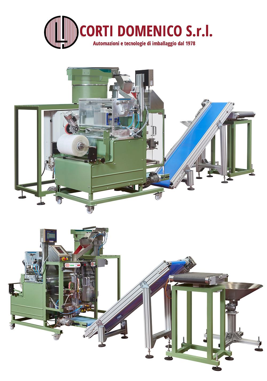Corti Domenico Srl: автоматическая упаковочная линия крепежных изделий в пакеты