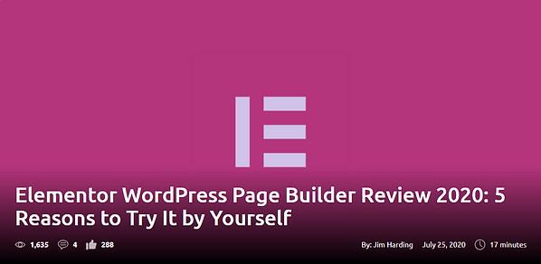 Elementor WordPress Page Builder Review 2020: 5 Reasons to Try It by Yourself