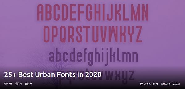 25+ Best Urban Fonts in 2020