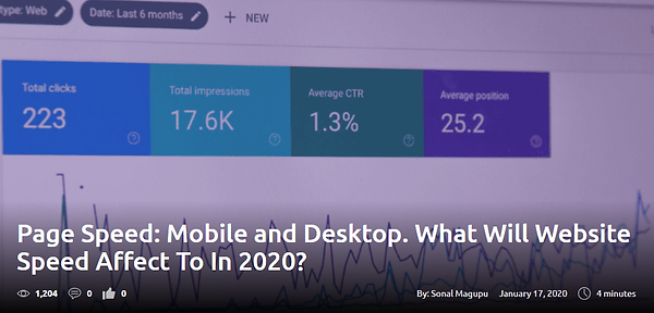 Page Speed: Mobile and Desktop. What Will Website Speed Affect To In 2020?