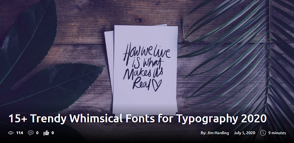 15+ Trendy Whimsical Fonts for Typography 2020