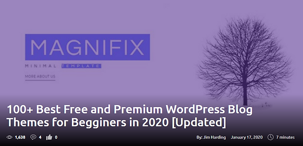 100+ Best Free and Premium WordPress Blog Themes for Begginers in 2020 [Updated]