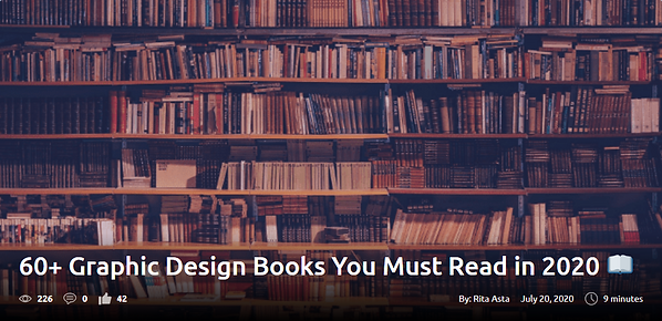 60+ Graphic Design Books You Must Read in 2020