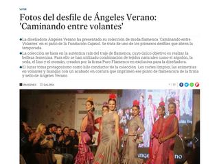 Fotos del desfile de Ángeles Verano, Caminando entre volantes.