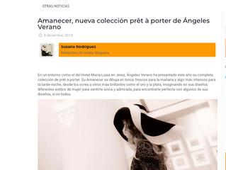 Amanecer, nueva colección Prêt á Porter de Ángeles Verano.