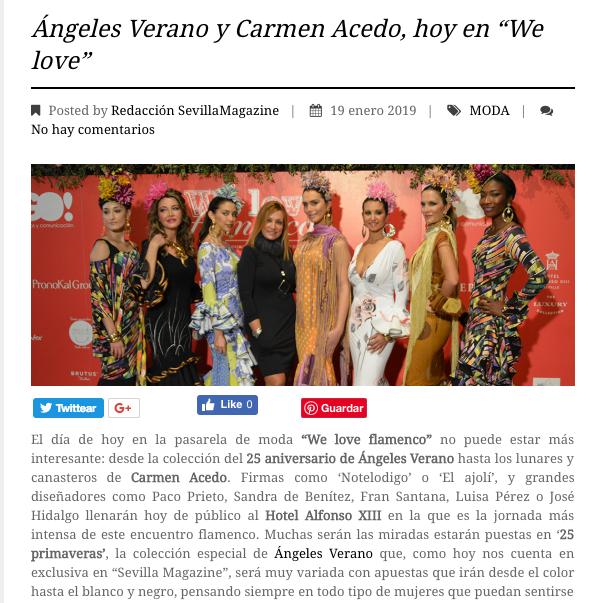 ángeles verano, sevilla magazine, 25 primaveras, we love flamenco
