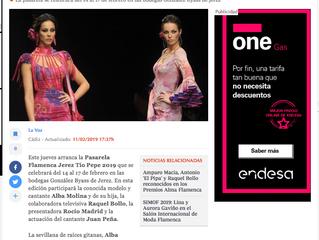 Alba Molina y su hija Lucía estarán en la Pasarela Flamenca de Jerez