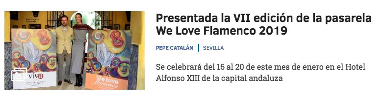 pasarela we love flamenco