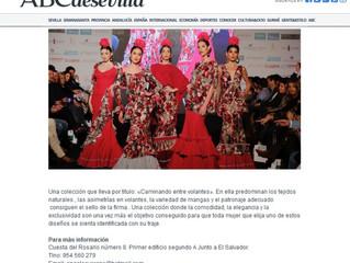 """ABC Sevilla muestra mi colección,""""caminando entre volantes"""""""