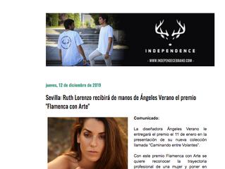 """Ruth Lorenzo recibirá de manos de Ángeles Verano el premio """"Flamenca con Arte"""""""