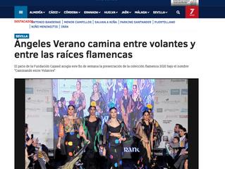 Ángeles Verano camina entre volantes y entre las raíces flamencas.