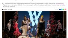 """Diario Sevilla: """"Así fue el desfile de Ángeles Verano en Pasarela Flamenca Jerez Tio Pepe 2020&"""