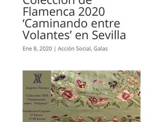 Ángeles Verano presenta su Colección de Flamenca 2020 'Caminando entre Volantes' en Sevilla