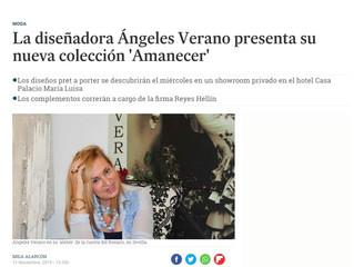 """La Diseñadora Ángeles Verano presenta su nueva colección """"Amanecer"""""""