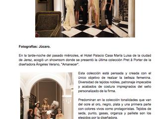 """Jerez: Ángeles Verano presentó """"Amanecer"""" en el Hotel Palacio María Luisa."""