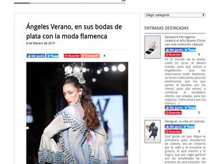 Ángeles Verano en sus bodas de plata con la moda flamenca.