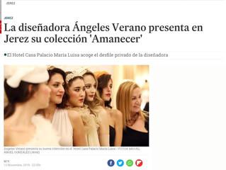 """La diseñadora Ángeles Verano presenta en Jerez su colección """"Amanecer""""."""