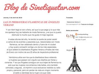Las 25 Primaveras Flamencas de Ángeles Verano.